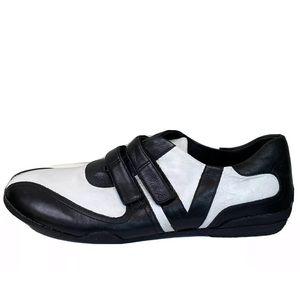 Via Spiga Zobel Alce Leather Black and White Shoes